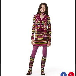 Missoni For Target Girls Passione Skirt &Cardigan